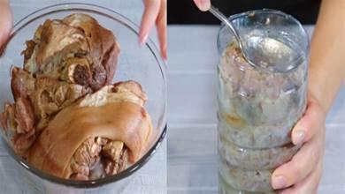 把豬肉裝到礦泉水瓶子裡,12小時後變成美味香腸,做法頭一次見