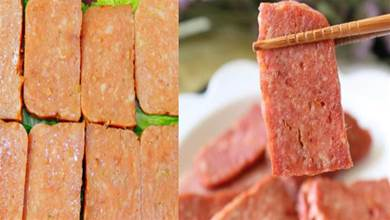 自製午餐肉的配方和做法,肉質緊實有彈性,一攪一蒸,一頓不吃饞得慌