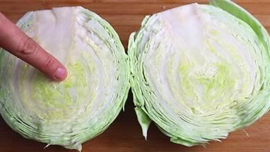 包菜最忌諱用清水洗,等於吃蟲卵,教你正確方法,髒東西全跑光